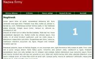 czerwony Darmowe strony www