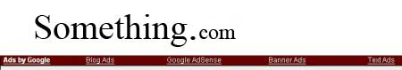 Przykład reklamy AdSense - Reklama upodabniana do linków nawigacyjnych