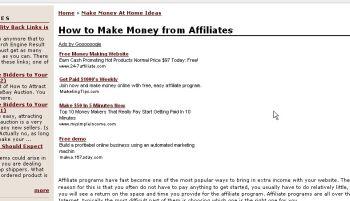 Przykład reklamy AdSense - Reklama w obszarze widocznym bez przewijania