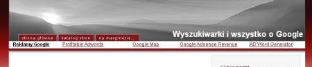 Przykład reklamy AdSense - Umieszczenie reklamy wśród linków nawigacyjnych