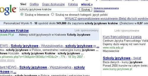 adwords przyklad5 Najczęstsze błędy w AdWords