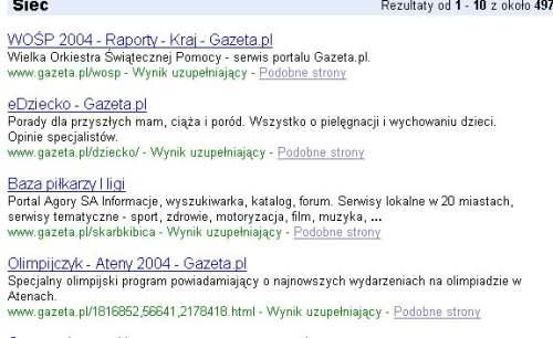Zrzut ekranu serwisu Gazeta.pl