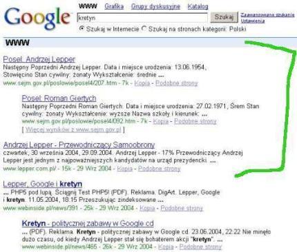 kretyn Google bombs   teoria i praktyka