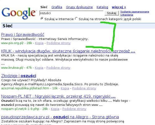 pis oszusci Google bombs   teoria i praktyka