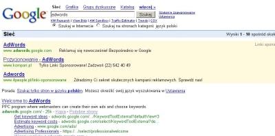 wersja linku AdWords dla Firefox
