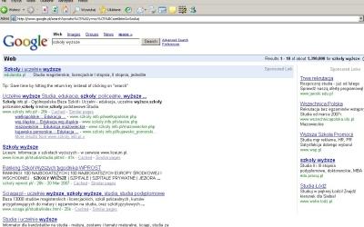 Wersja linku AdWords dla Internet Explorer