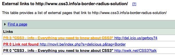 Narzędzie do zbieranie informacji o linkach w Google Webmaster Tools