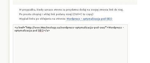 link me Wordpress   optymalizacja pod SEO