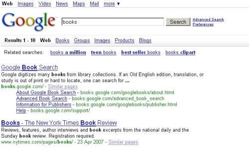 books Nowy interfejs Google   przetestuj sam