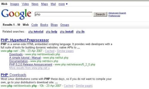 php Nowy interfejs Google   przetestuj sam