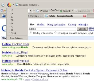 google global 4 Google Global   wtyczka geolokalizacyjna dla Google w Firefox