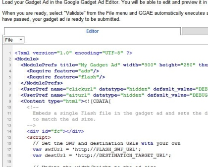 google gadget ad editor Google wprowadza Gadget Ads (reklamy gadżetowe)