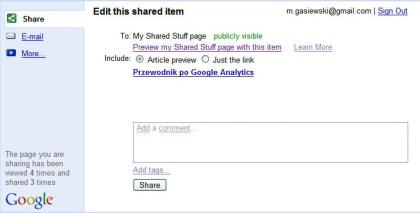 google shared stuff dodawanie Google Shared Stuff   ciekawa, darmowa usługa Google
