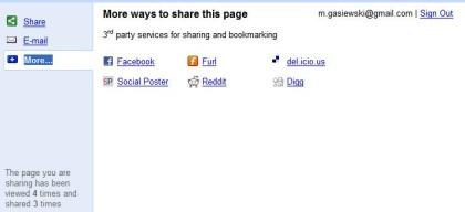 google shared stuff serwisy Google Shared Stuff   ciekawa, darmowa usługa Google
