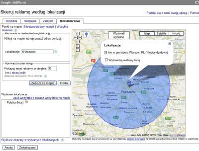 Nowy interfejs kierowania reklamy na lokalizację