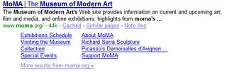 Nowa wersja Site links W Google
