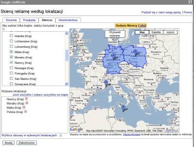 Nowy interfejs kierowania Google AdWords na lokalizację