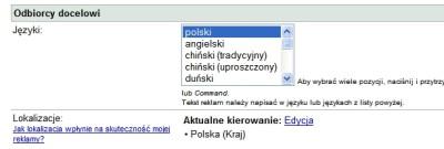 google adwords kierowanie Kierowanie reklamy AdWords   szczegóły