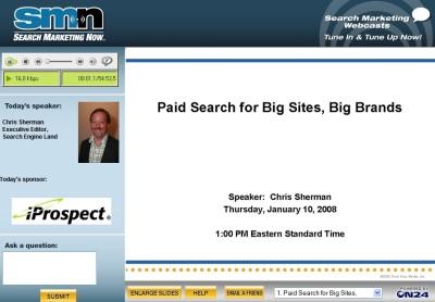 Reklama w wyszukiwarkach - webcasty