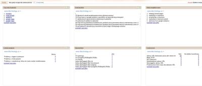 Gadżet Google dla Webmasterów w iGoogle