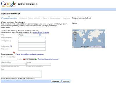 google firmy 1b Jak dodać za darmo firmę do polskiego Google Maps
