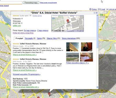 Opis firmy w polskiej wersji Google Maps