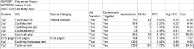 Raport skuteczność miejsc docelowych w Google AdWords