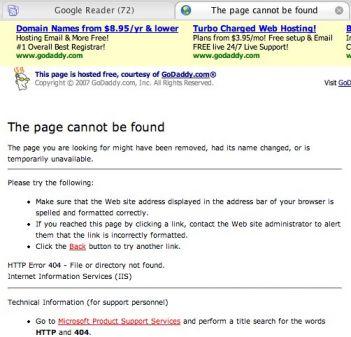 Reklama Google AdWords na stronach błędów