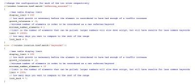 Konfiguracja wtyczki Greasemonkey w interfejsie Google Analytics
