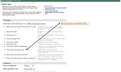 Raport skuteczność wyszukiwanego hasła w AdWords