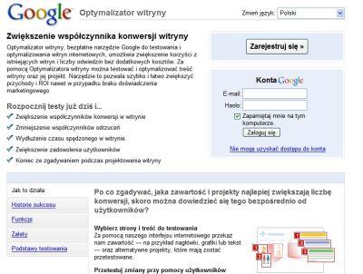 Optymalizator witryny Google