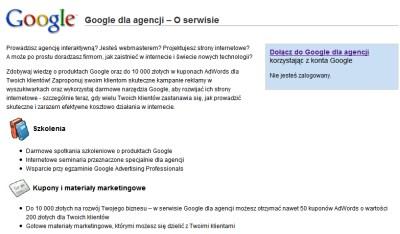 google dla agencji Google dla agencji