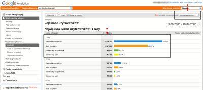 Segmenty wbudowane w Google Analytics
