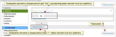 Segmenty niestandardowe w Google Analytics - wymiary i charakterystyki