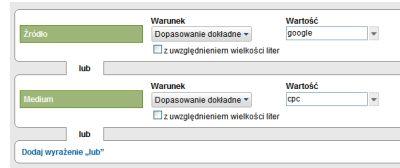Segmenty niestandardowe w Google Analytics - wybór źródła i charakterystyki
