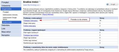 google analiza tresci 2 Narzędzia dla Webmasterów   12 powodów, dla których warto je mieć