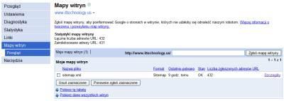 google mapa witryny 2 Narzędzia dla Webmasterów   12 powodów, dla których warto je mieć