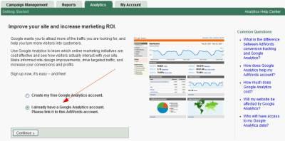 Łączenie konta Google AdWords z kontem Google Analytics