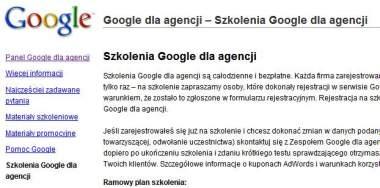 google dla agencji Szkolenia Google we Wrocławiu i w Poznaniu