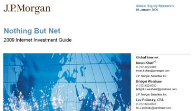 raport jp morgan 2009 Internet Investment Guide   raport JP Morgan o Internecie