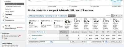 Zmiany w koncie Google Analytics - brak informacji o kosztach kampanii AdWords