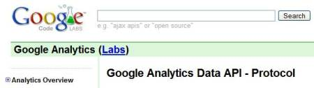 google analytics api API Google Analytics