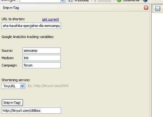 Skracanie adresu url i automatyczne śledzenie w Google Analytics