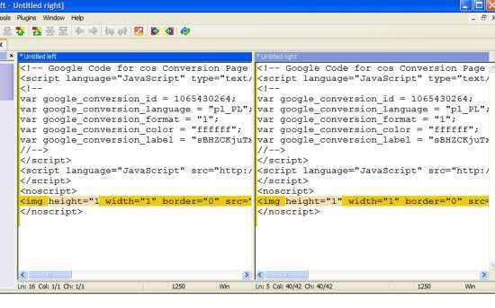 Winmerge - ciekawa aplikacja do porównywania kodu
