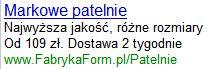 Patelnie - reklama