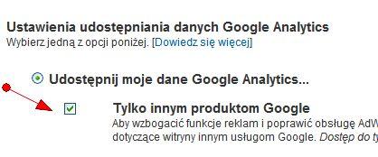 Konwersje z Google Analytics w interfejsie Google AdWords