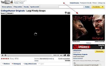 Przykładowa reklama na Youtube