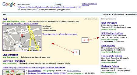 rozszerzenia adwords mapka Rozszerzenia reklam Google AdWords   sposób na wyróżnienie się spośród konkurencji