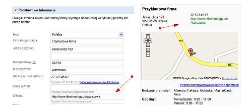 dane centrum firm Śledzenie przejść użytkowników z mapy Google