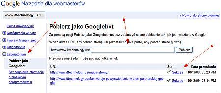 narzedzia googlebot